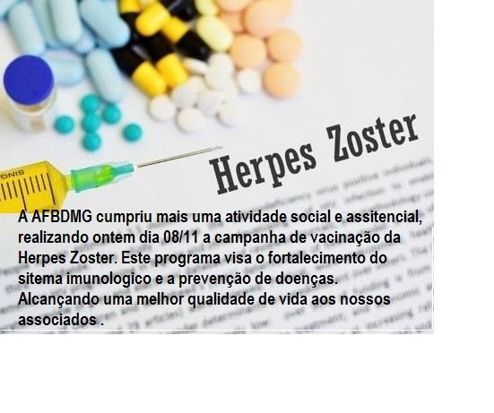 Campanha vacinação AFBDMG – Herpes Zoster